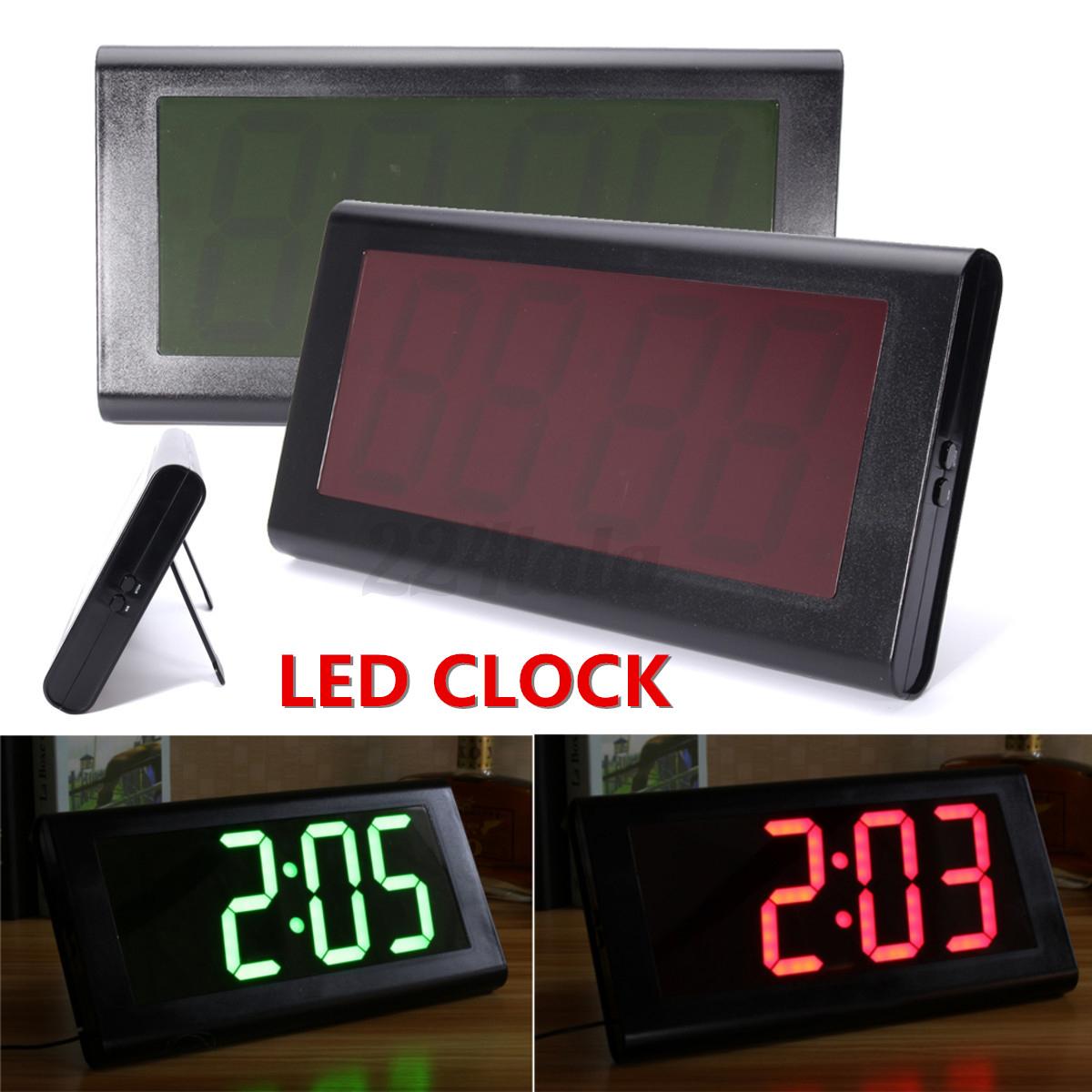 3d Modern Digital Large Led Light Desk Wall Clock Display Watch Home Decoration
