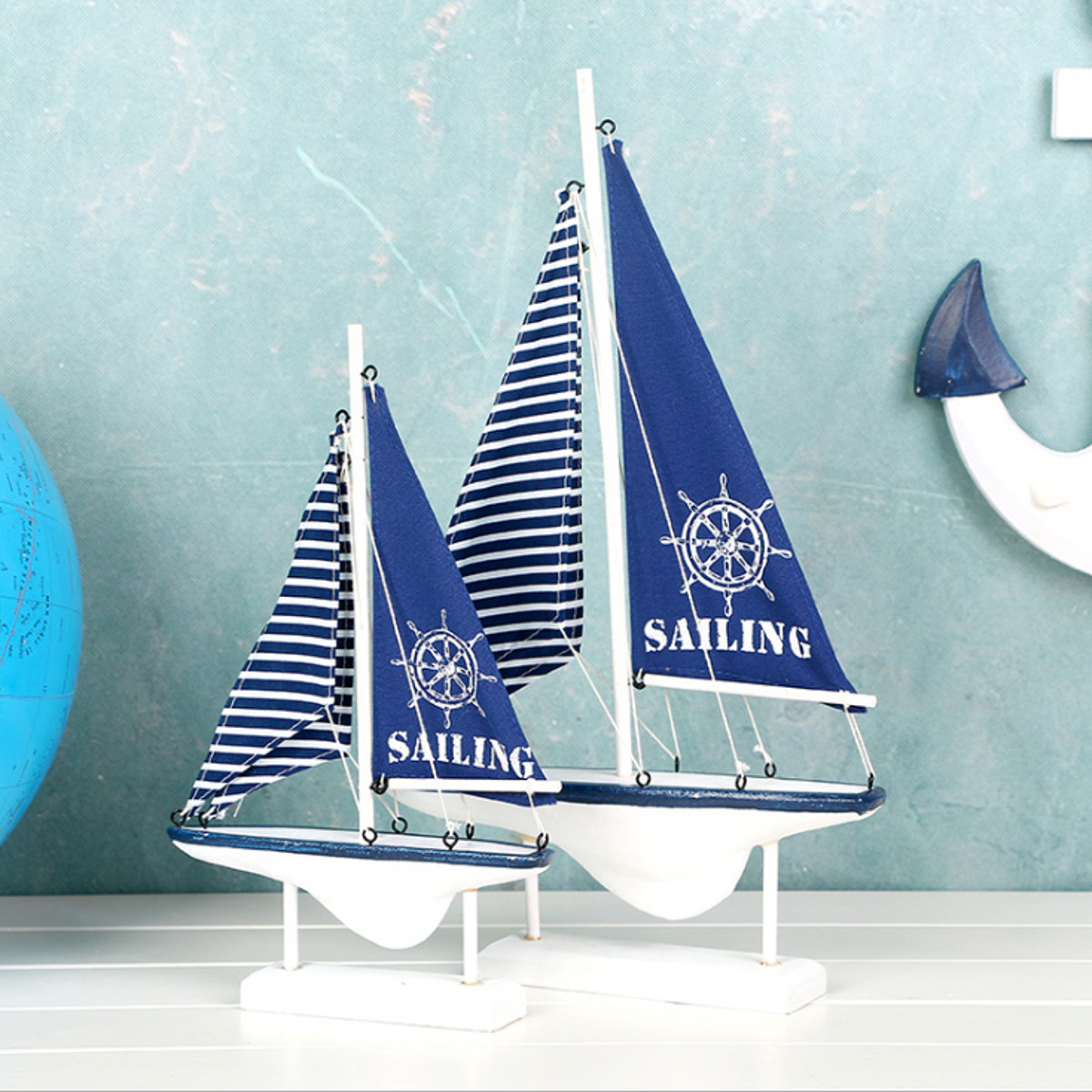 Ship-Assembly-Model-DIY-Kit-Wooden-Sailing-Boat-Decor-Wood-Toy-Gift-Collectables thumbnail 3