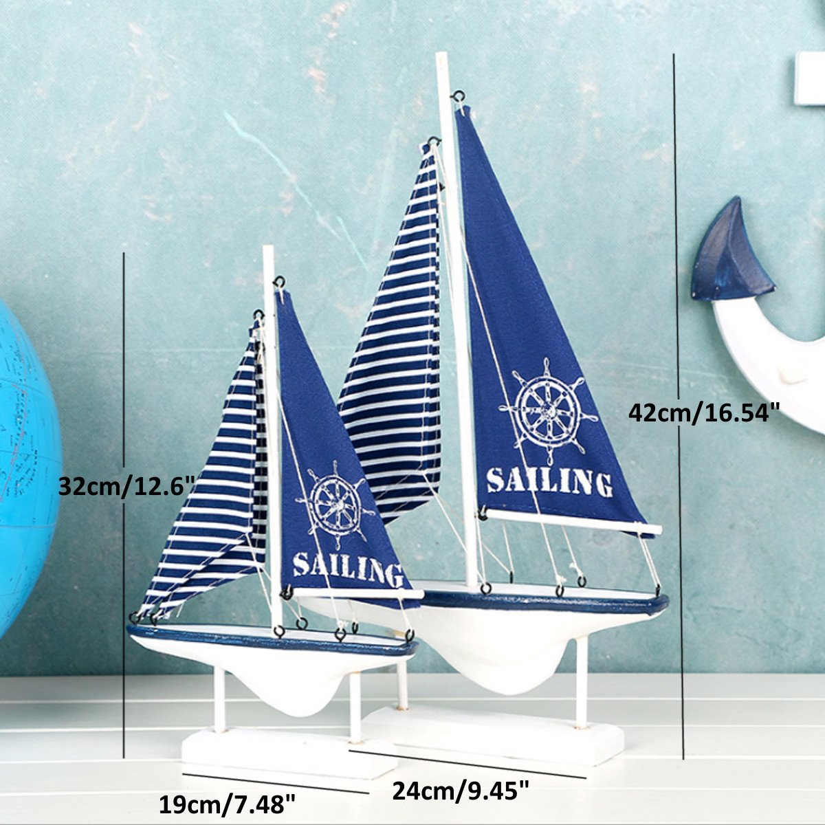 Ship-Assembly-Model-DIY-Kit-Wooden-Sailing-Boat-Decor-Wood-Toy-Gift-Collectables thumbnail 10