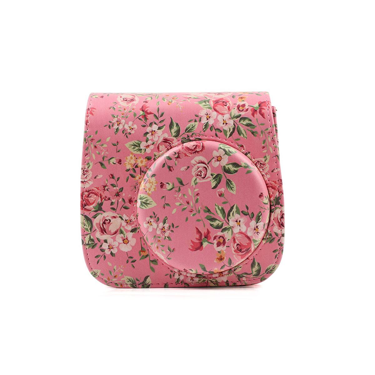 Floral Leather Camera Shoulder Bag Case Cover For Fujifilm Instax Mini 8/8+/9 | EBay