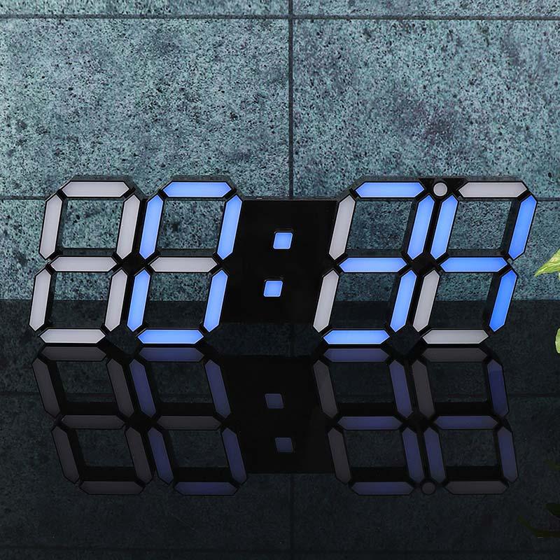Skeleton-Wall-Clock-3D-Digital-Blue-Light-LED-Modern-Design-Timer-Remote-control