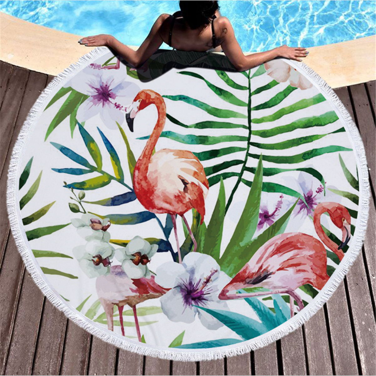 boh me flamant rose tapisserie mandala jet de lit tenture murale tapis de plage ebay. Black Bedroom Furniture Sets. Home Design Ideas