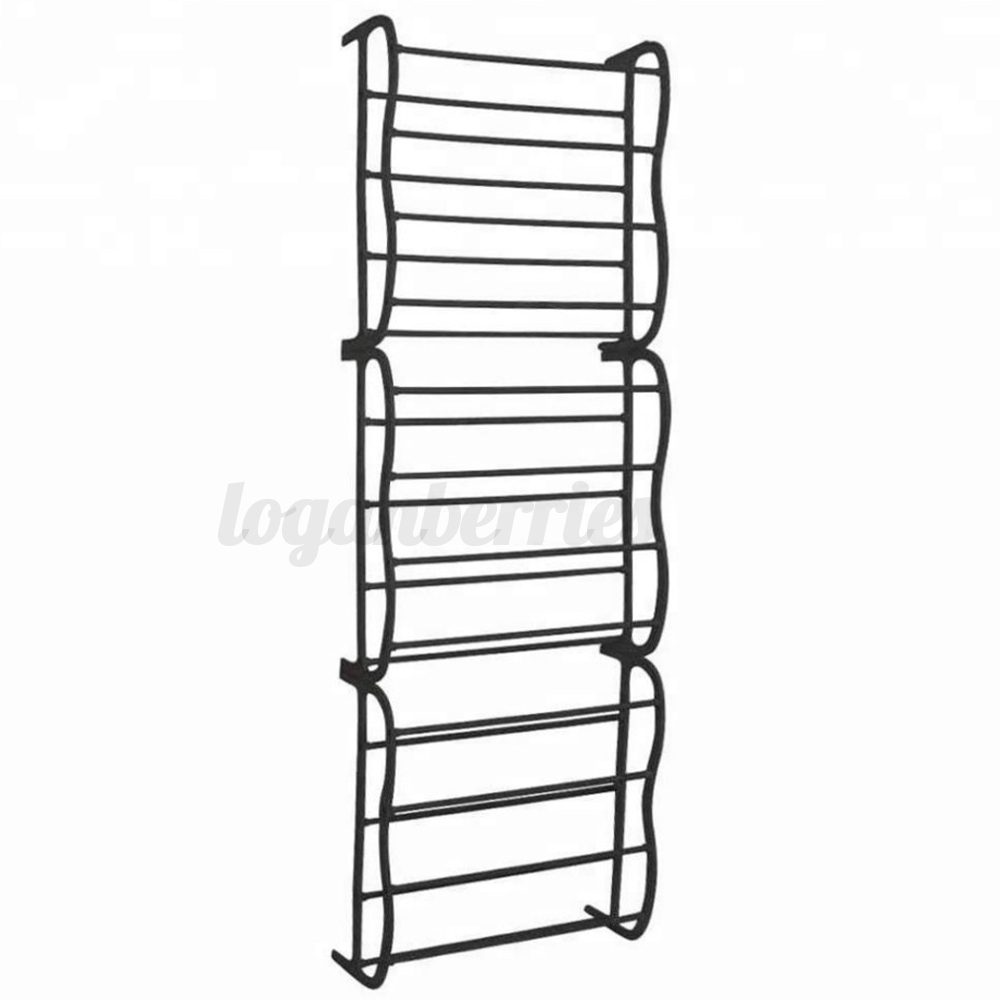 4-8-12-Tier-Over-The-Door-Hanging-Shoe-Rack-Organiser-Stand-Shelf-Holder thumbnail 9