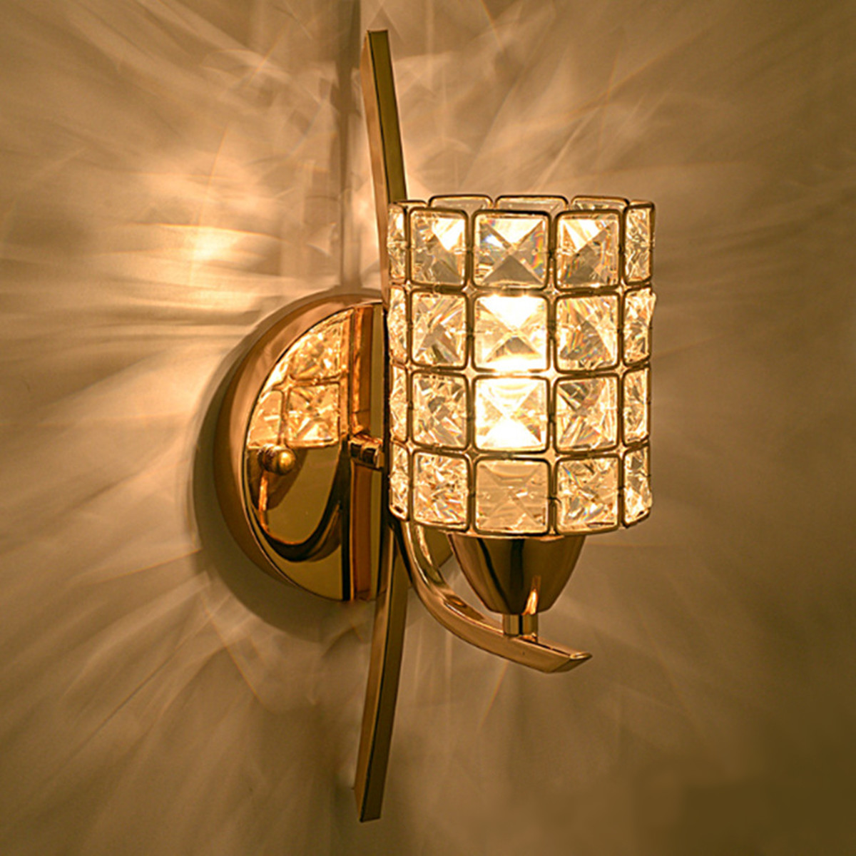 Led modern crystal small wall lamp sconce light bedside hallway led modern crystal small wall lamp sconce light arubaitofo Image collections