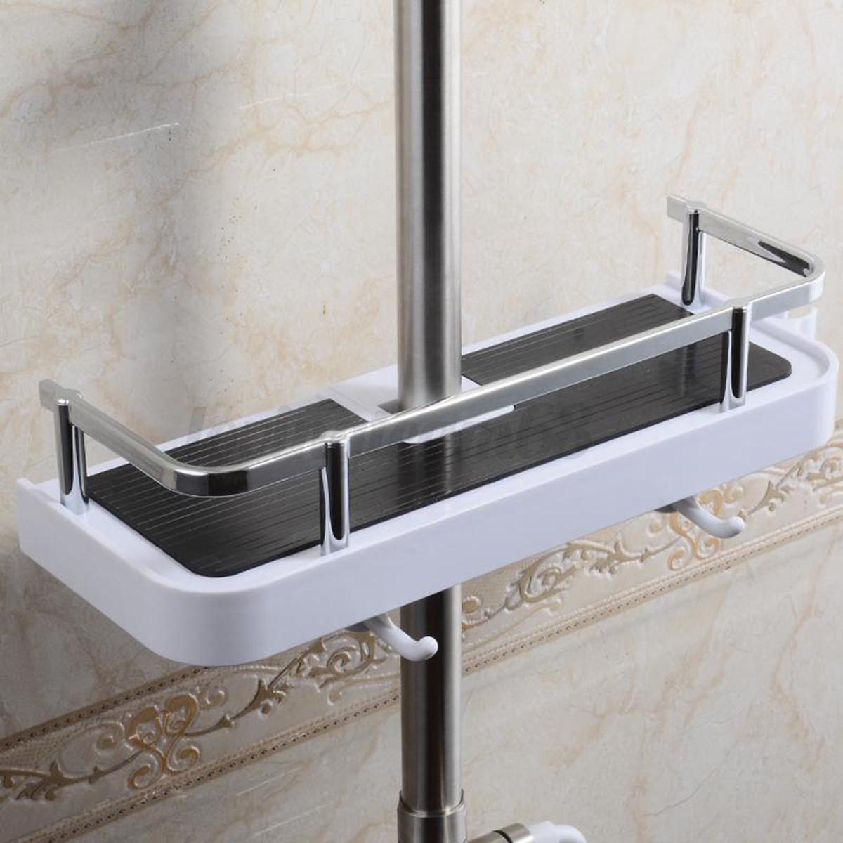 badablage regal halter badregal duschregal duschablage duschkorb f r duschstange ebay. Black Bedroom Furniture Sets. Home Design Ideas