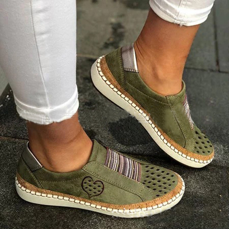 Details about  /Nis Women Lazy Loafers Hollow Elastic Band Slip On Boat Shoes Flat Sport Sneaker