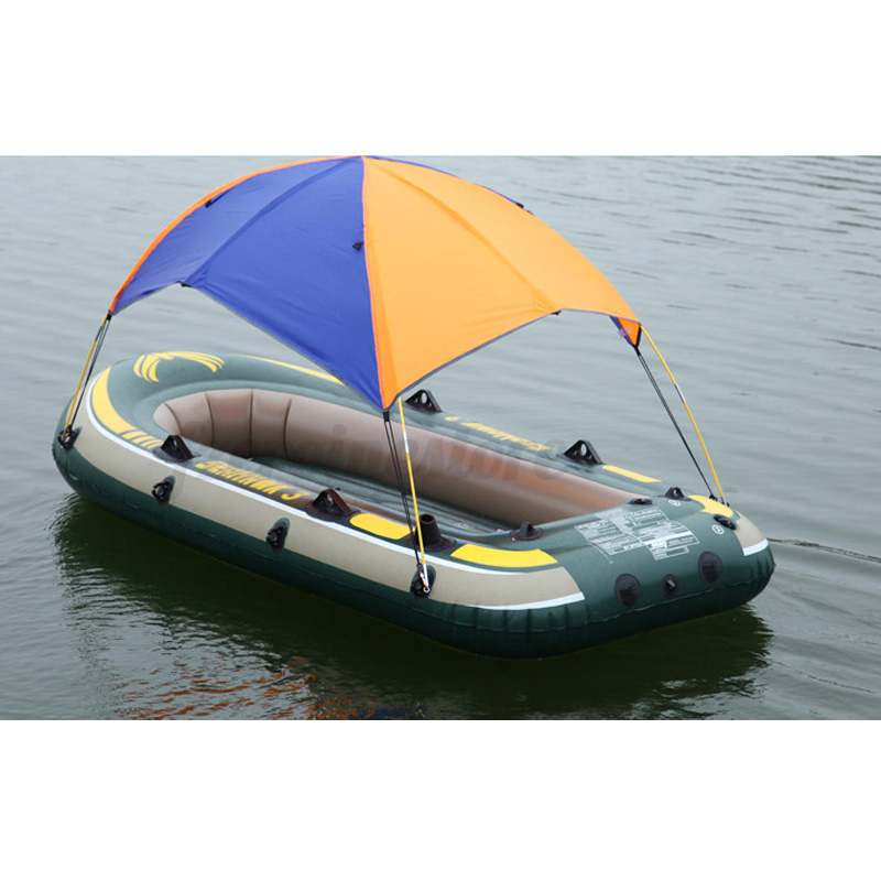 Sun shelter fishing tent inflatable boat rubber boat for 2 for Two man fishing boat