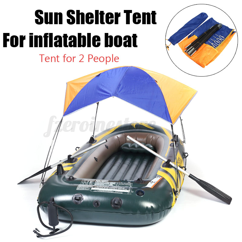 Sun Shelter Fishing Tent Inflatable Boat Rubber Boat For 2