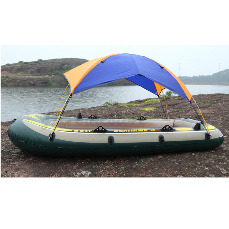 Sun shelter fishing tent inflatable boat rubber boat for 2 for Rubber boats for fishing