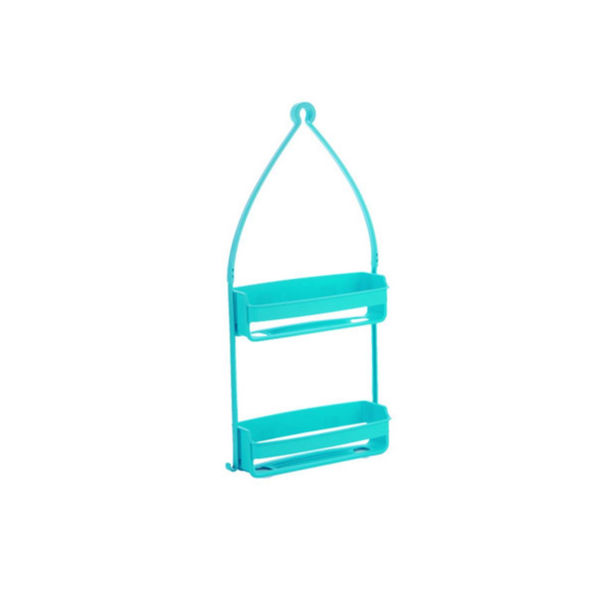 2 Tier Hanging Shower Caddy Rack Tidy Basket Organiser Bathroom ...