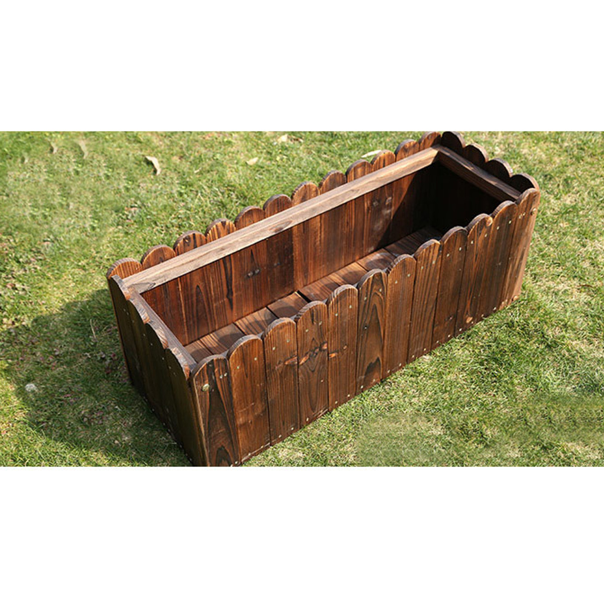 Raised Planter Bed Elevated Wood Succulent Vegetable Container Home ...