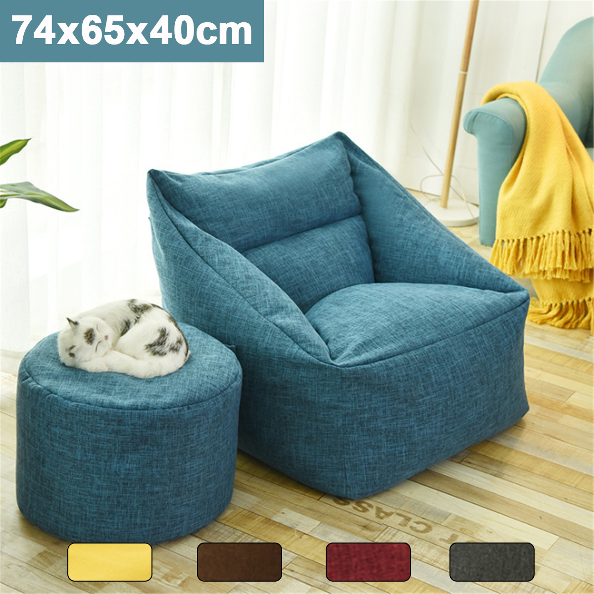 Peachy Details About 2019 Large Bean Bag Chair Sofa Cover Indoor Outdoor Gamer Beanbag For Adult Onthecornerstone Fun Painted Chair Ideas Images Onthecornerstoneorg