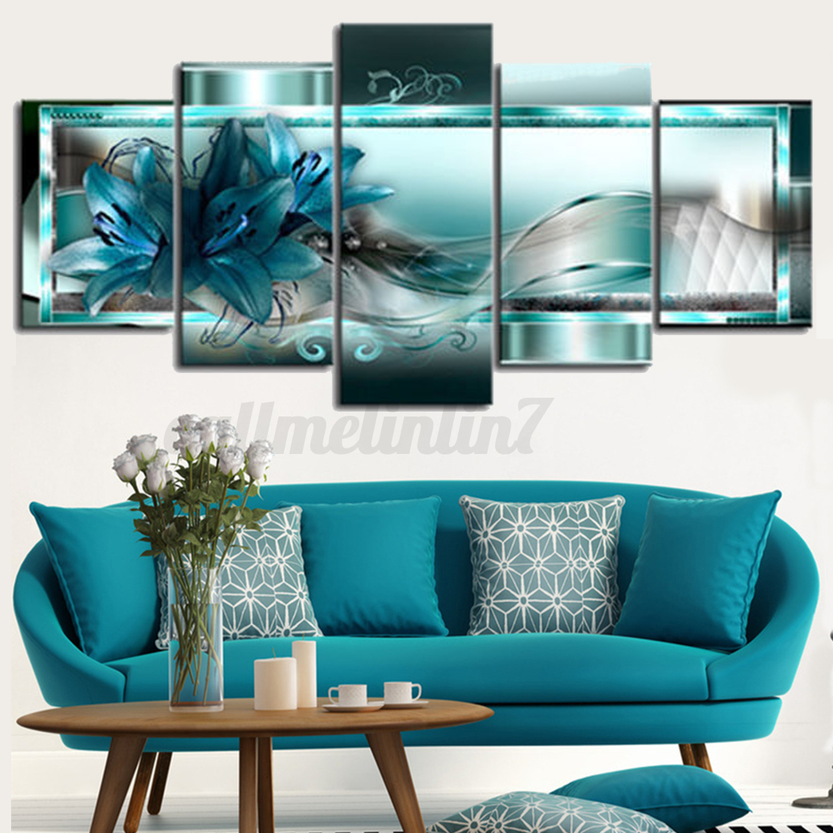 Picture Home Decor: Framed Abstract Art Canvas Print Modern Oil Painting