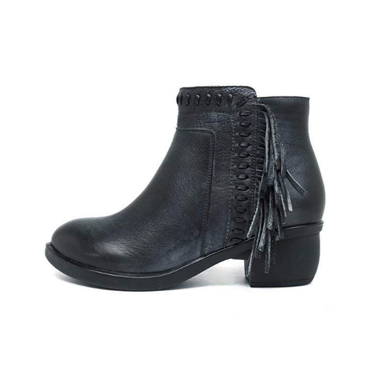 SOCOFY-Women-Tassel-Shoes-Genuine-Leather-Ankle-Boots-Block-Heel-Chunky-Zipper