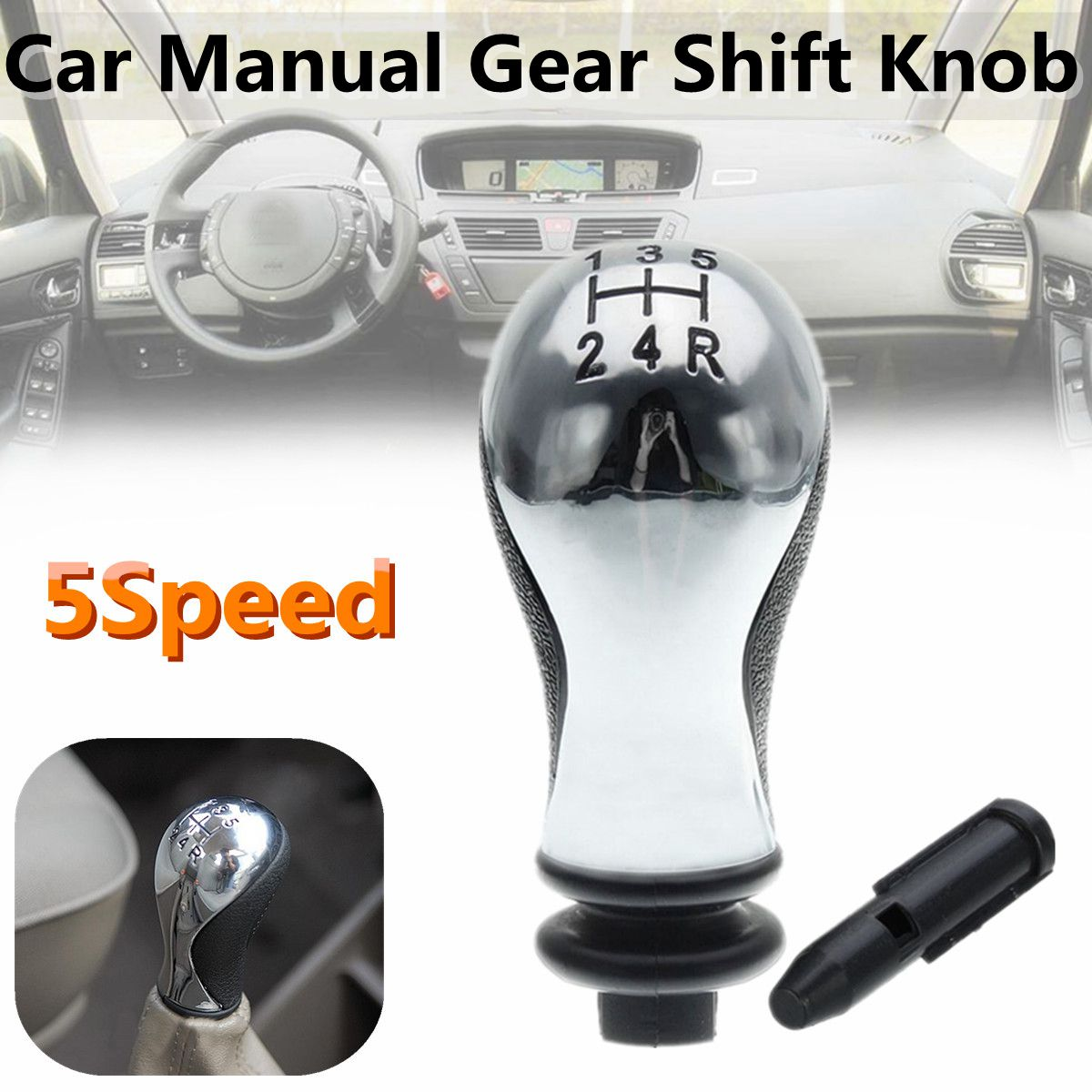 5 Speed Manual Car Gear Shift Knob For Citroen C5 01-08
