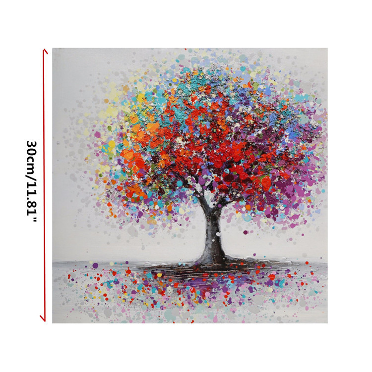 Modern-Abstract-Tree-Flowers-Art-Canvas-Prints-Painting-Picture-Home-Wall-Decor