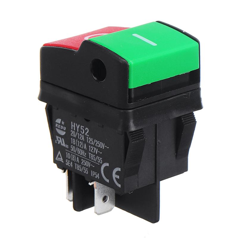 HY52 250V 12A 4Pins Elektrisch Taster Schalter für Mechanische Gerät