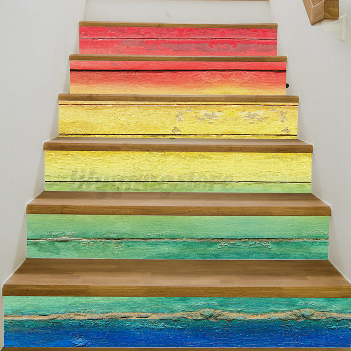 3D Stairs Tile Risers Mural Vinyl Decal Wallpaper Stickers Decor ...