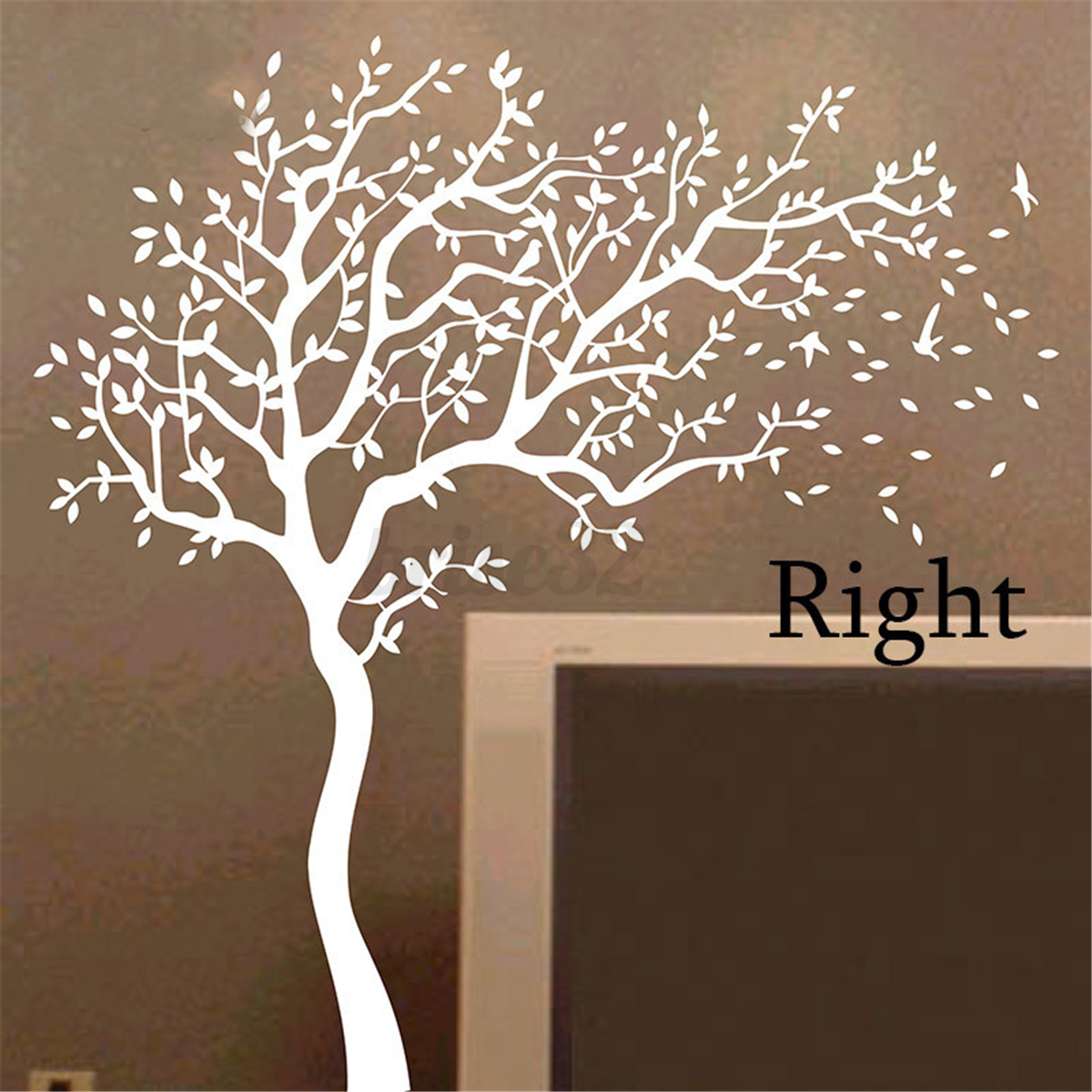 Large family tree diy decal paper art wall sticker home for Decal wall art mural