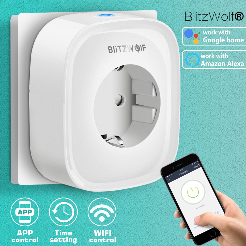 Details about BlitzWolf 220V16A WIFI Smart Socket APP Phone Remote Control  Amazon Alexa Google