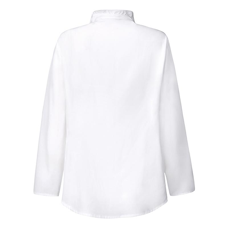 ZANZEA Womens Long Sleeve Collar Tops Ladies Office OL Work Shirt Ruffled Blouse