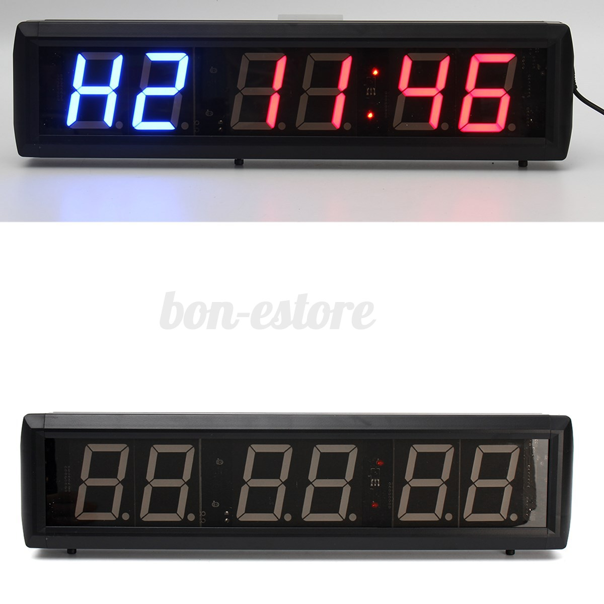 Programmable led interval timer big stopwatch home