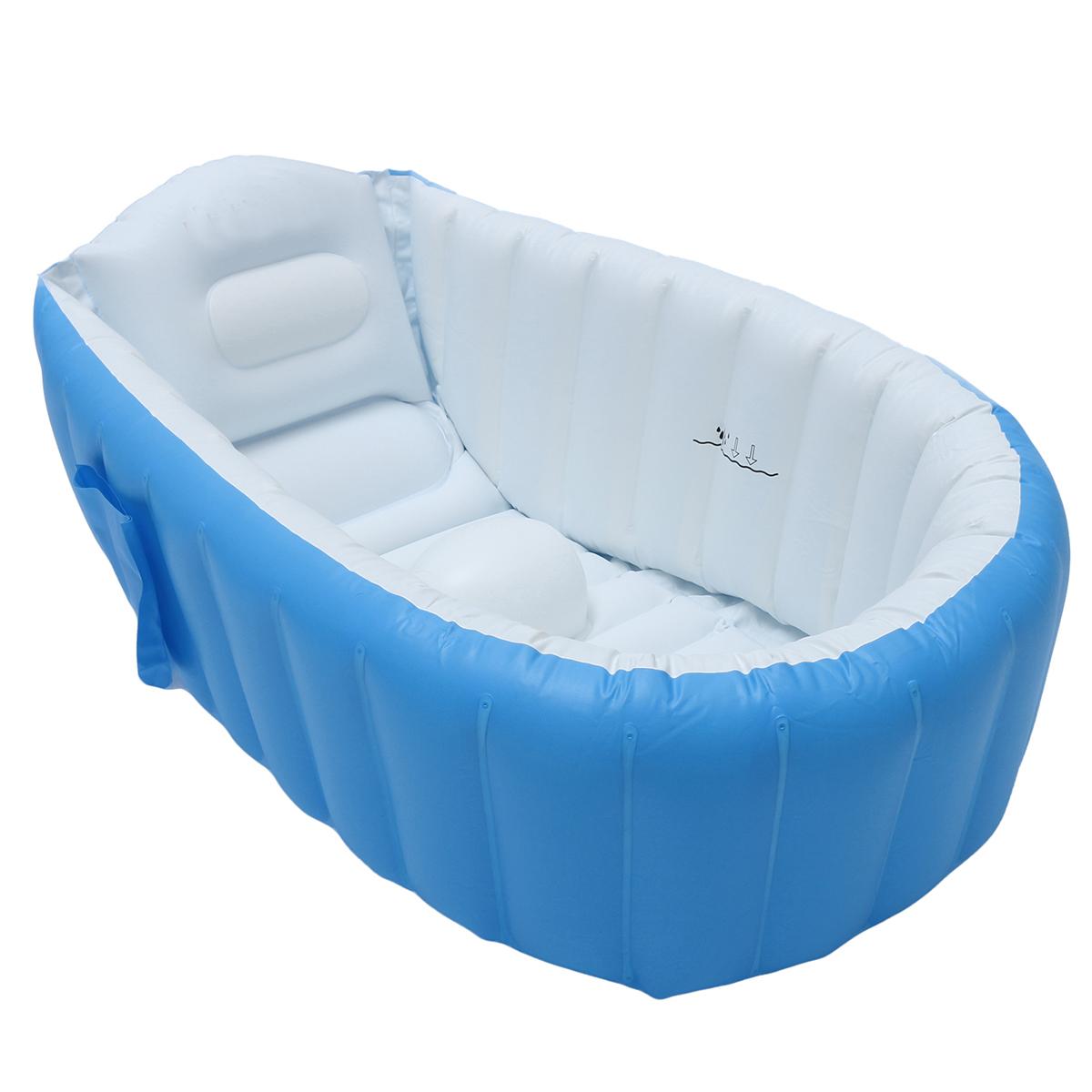 New Baby Kids Toddler Inflatable Bathtub Newborn Thick Bath Tub ...