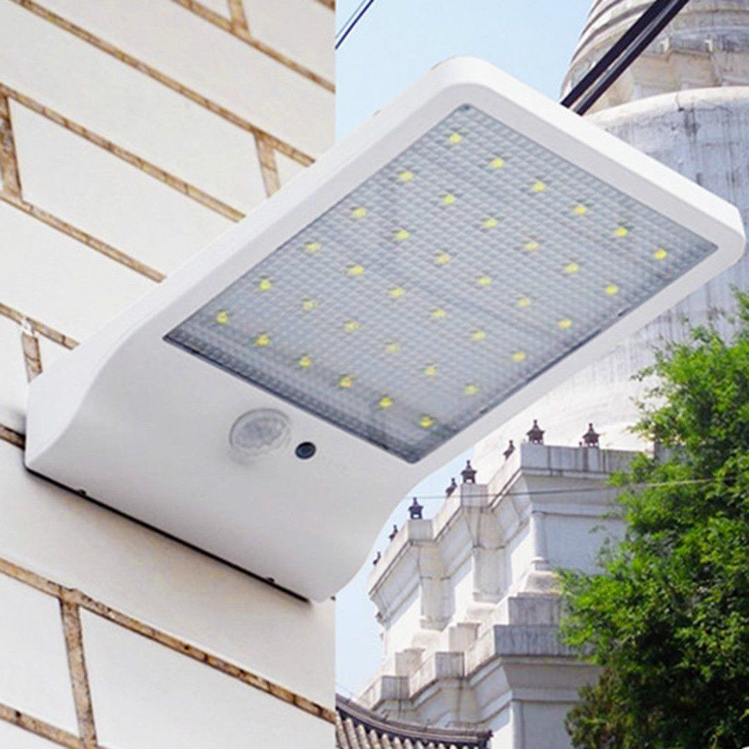 Bright 36 LED Solar Power Light Motion Sensor PIR Garden Outdoor Security Wall