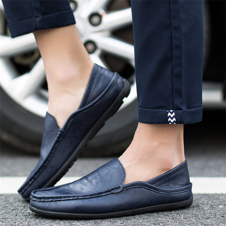 Men-039-s-Genuine-Leather-Casual-Loafers-Driving-Penny-Slip-On-Moccasins-Boat-Shoes