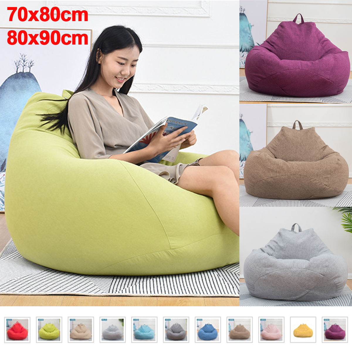 Astonishing Details About Uk Large Bean Bag Chair Sofa Couch Cover Indoor Lazy Lounger For Adults Creativecarmelina Interior Chair Design Creativecarmelinacom
