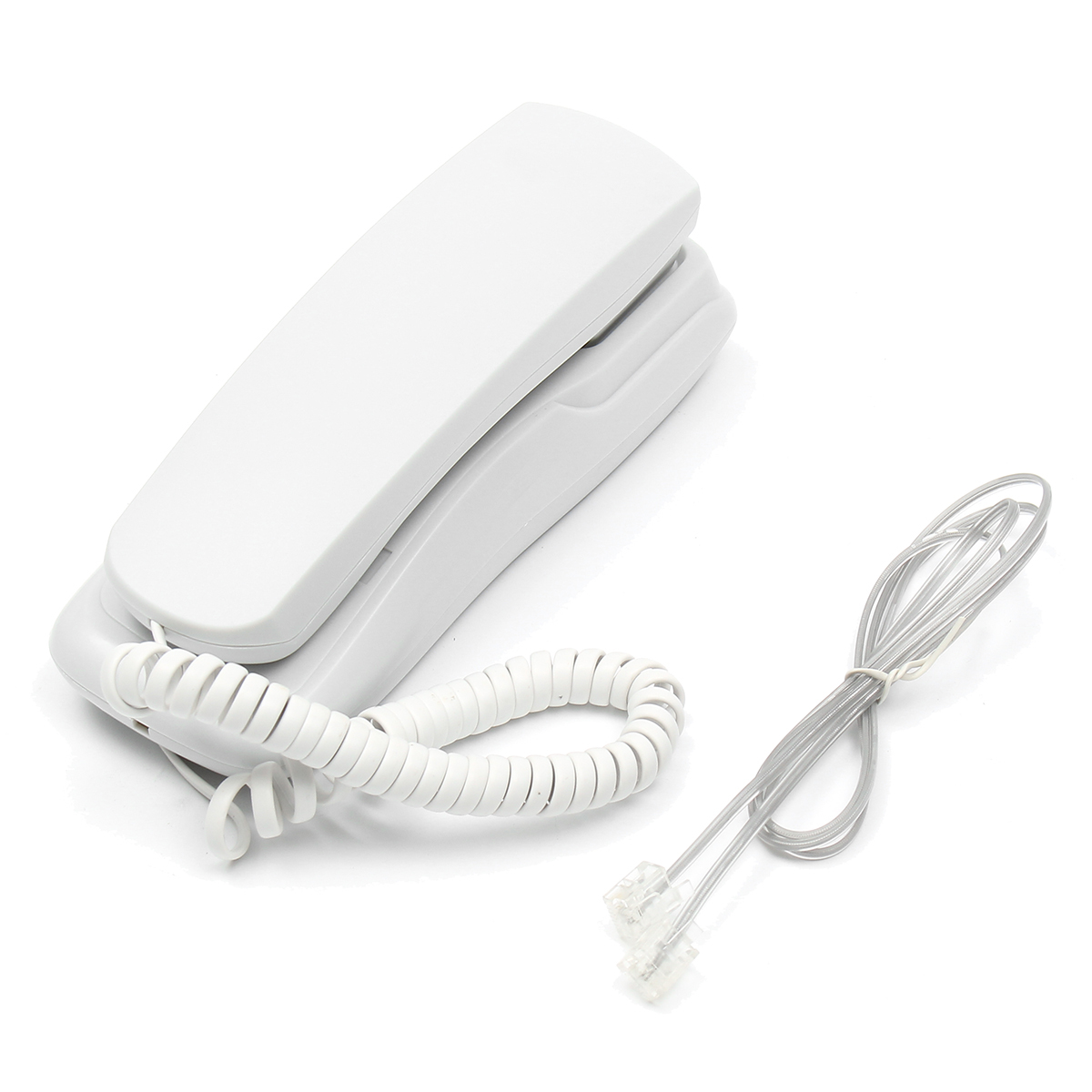White-Black-Wall-Mount-Home-Hotel-Office-Corded-Phone-Telephone-Flash-Redial