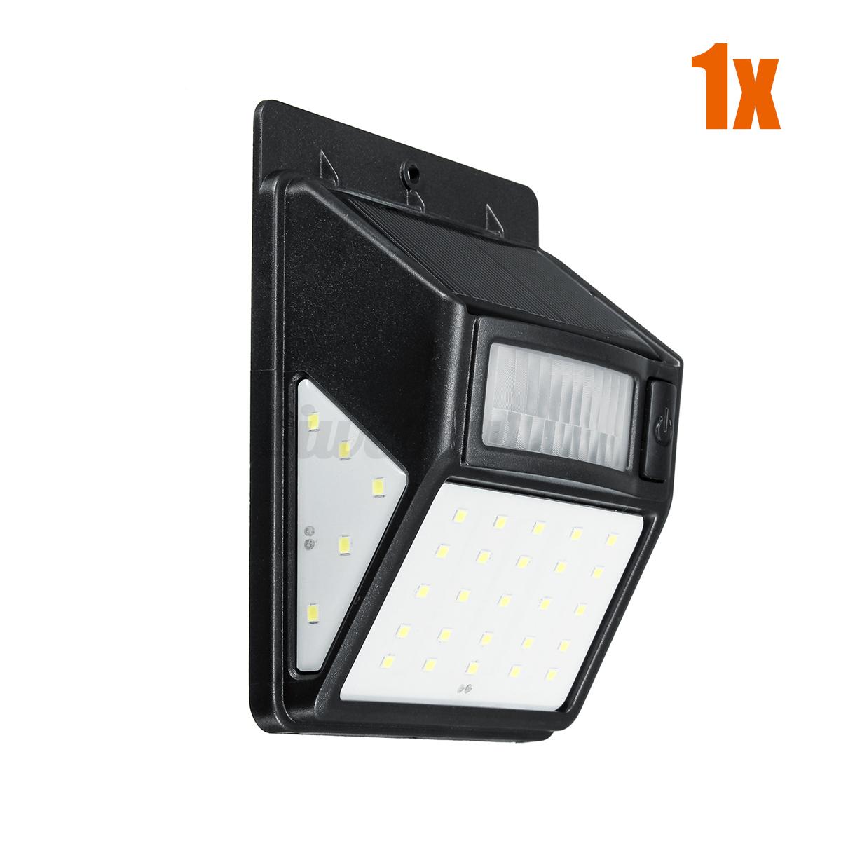 35-LED-Lampe-Solaire-Projecteur-Capteur-Detecteur-Mouvement-Jardin-Exterieur miniature 12
