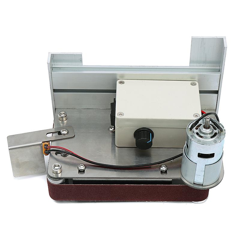 12000rpm Diy Micro Belt Electric Mini Polish Machine Desk