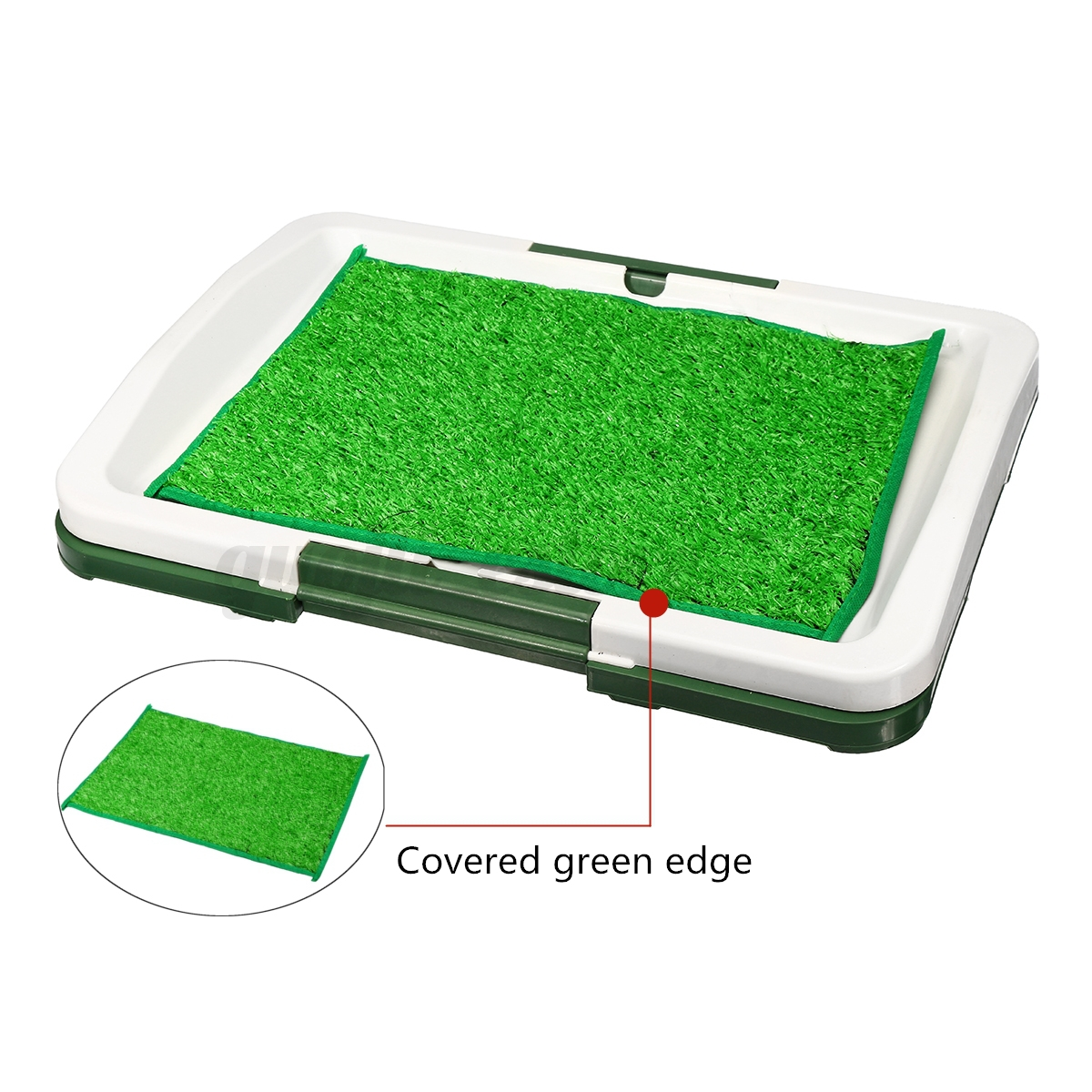 Indoor-Dog-Pet-Potty-Training-Portable-Toilet-Large-Pee-Loo-Pad-Tray-Grass-Mat