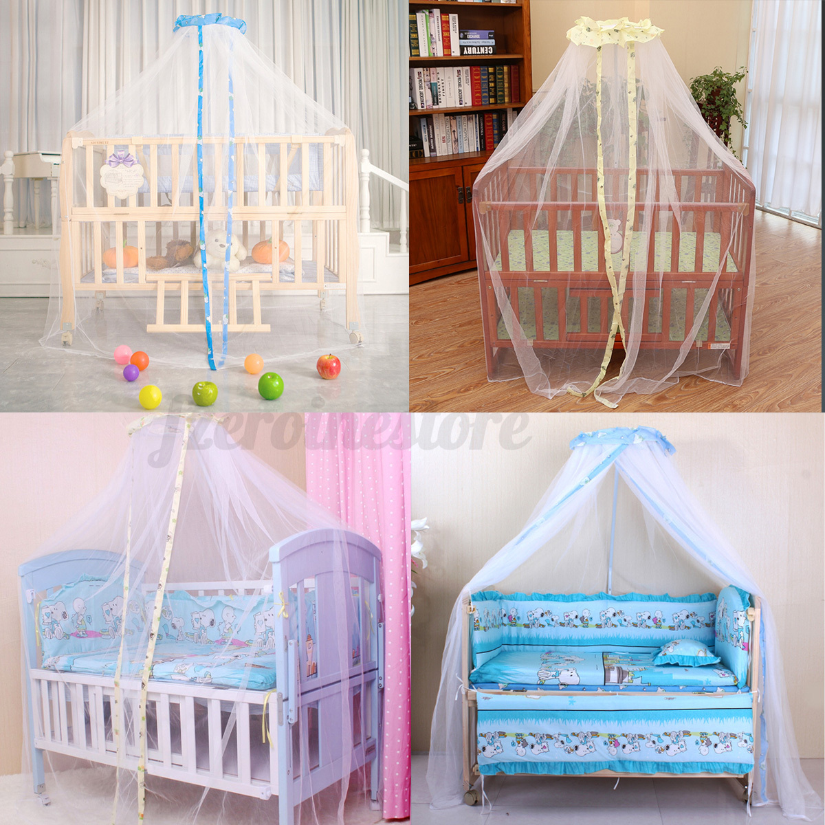 babybett betthimmel moskitonetz m ckennetz fliegennetz baby kinderbett neu ebay. Black Bedroom Furniture Sets. Home Design Ideas