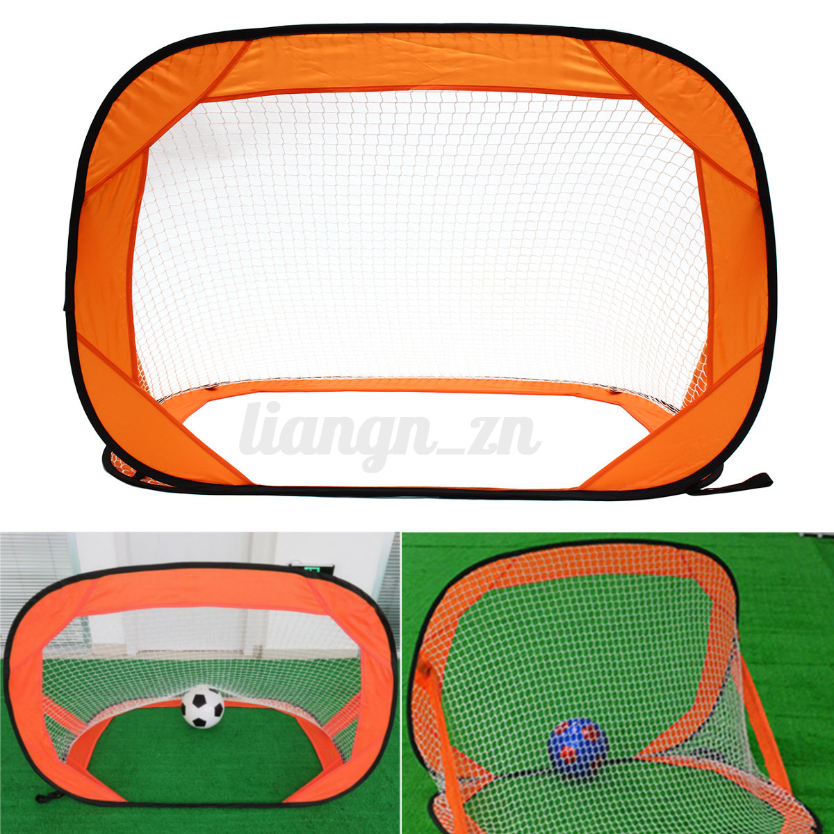 2-In-1 Football Soccer Goal Net Kids Training Outdoor Mini Portable Sport D8Q4