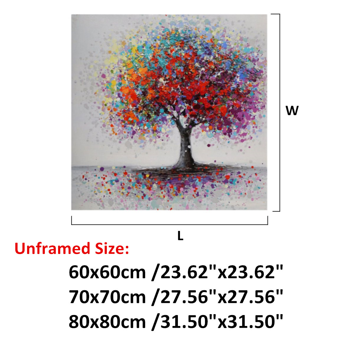 Colorful-Tree-Canvas-Print-Painting-Art-Picture-Home-Wall-Decor-Unframed-Framed