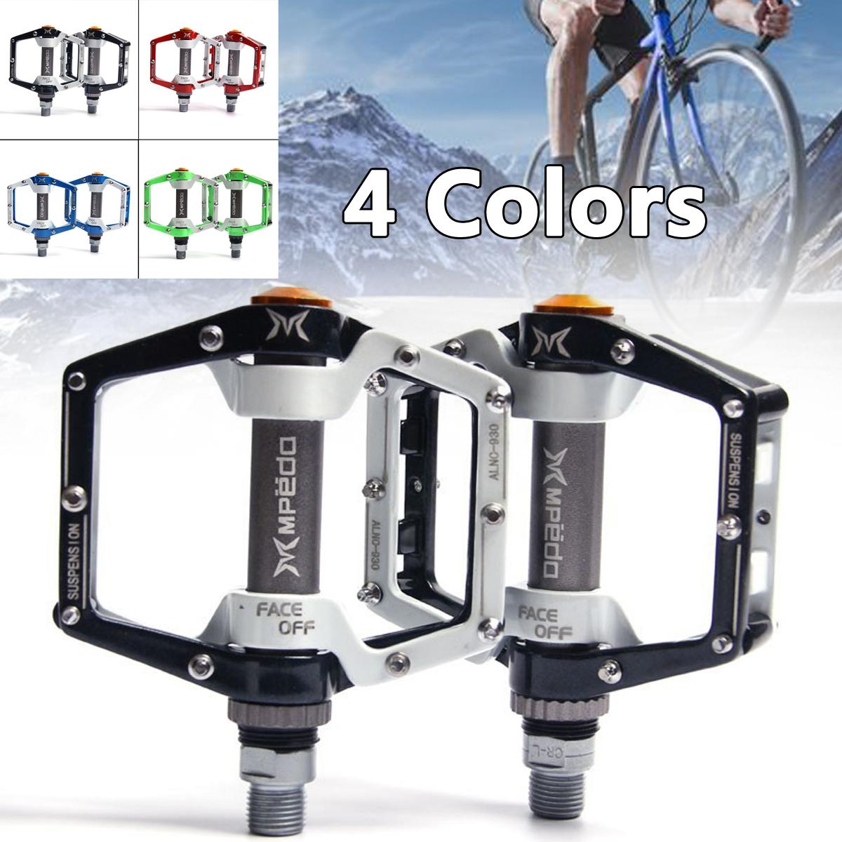 Cycling MTB Flat Pedals 9//16 in Mountain Bike Bicycle Platform Pedal 4 Bearing