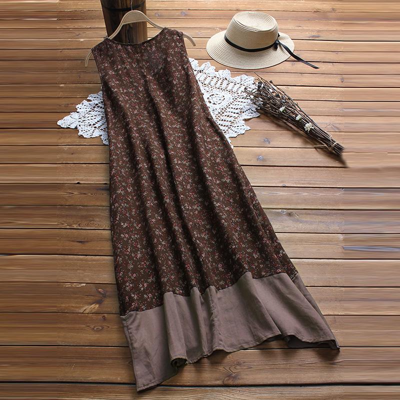 womens lady floral chiffon dreamlike silk sun beach ballgowm maxi bohemia dress