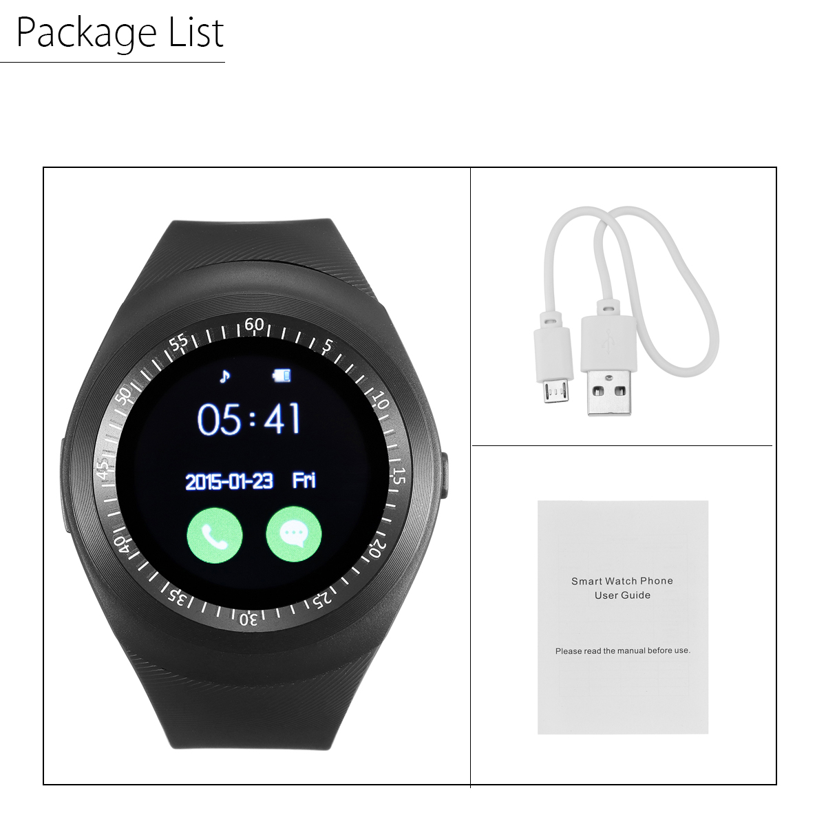 Details about Smart for android y1 Bluetooth Watch SIM Micro SD Slot Smart  Watch- show original title