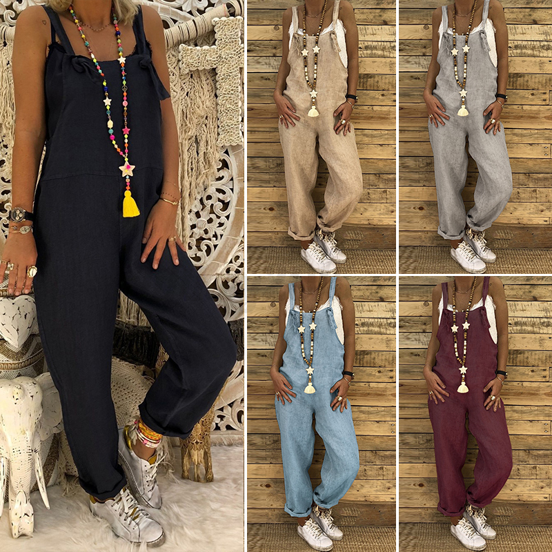 60% clearance lowest discount elegant in style UK New Womens Dungarees Jumpsuits Ladies Playsuit Overalls Baggy Pants Plus  Size | eBay