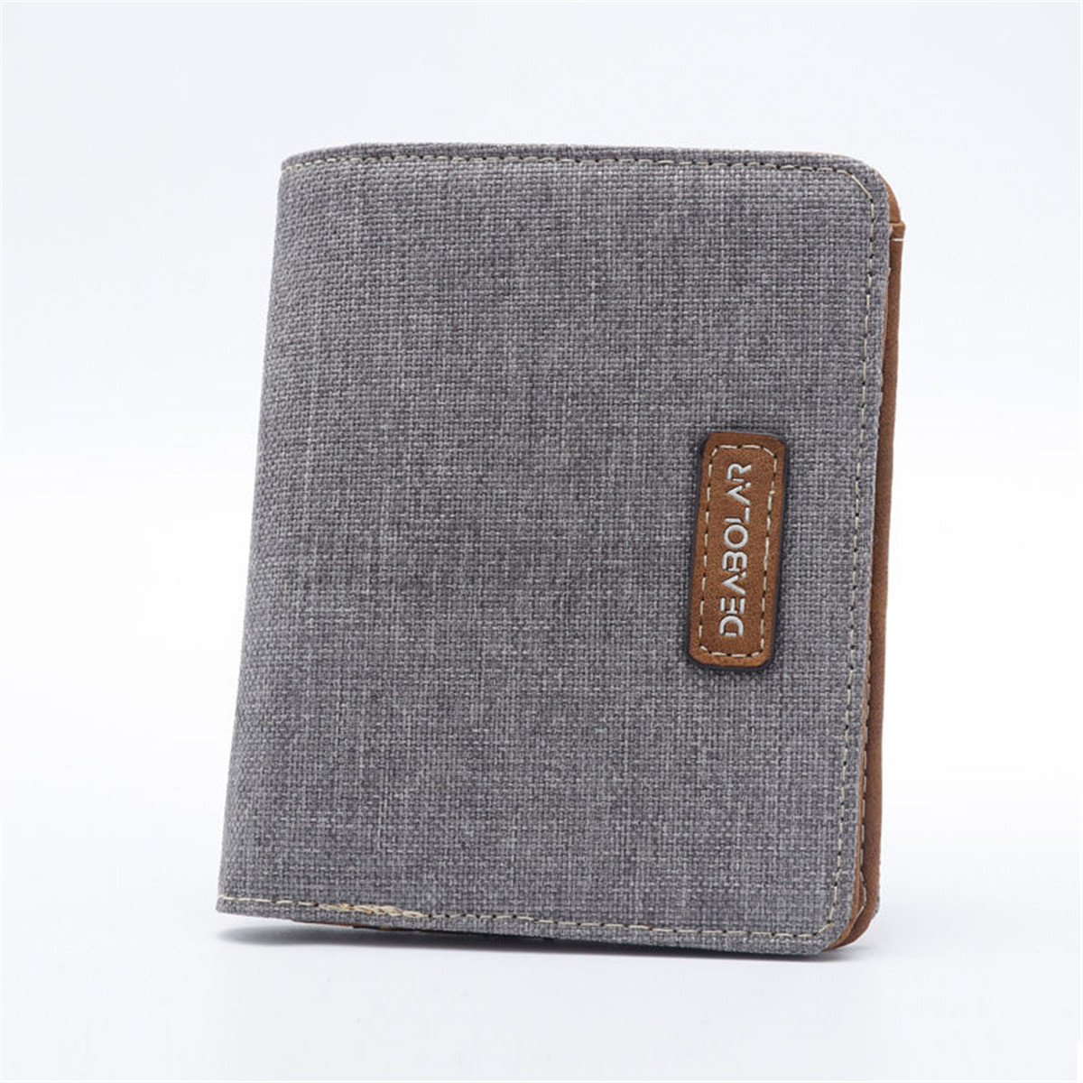 Men-Short-Canvas-Slim-Bifold-ID-Wallet-Clutch-Handbag-Credit-Card-Purse-Holder