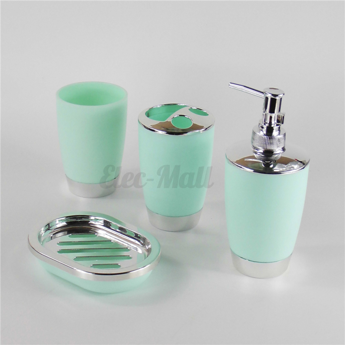 4pcs set plastic bathroom suit bath accessories cup toothbrush holder soap dish ebay - Bathroom soap dish sets ...