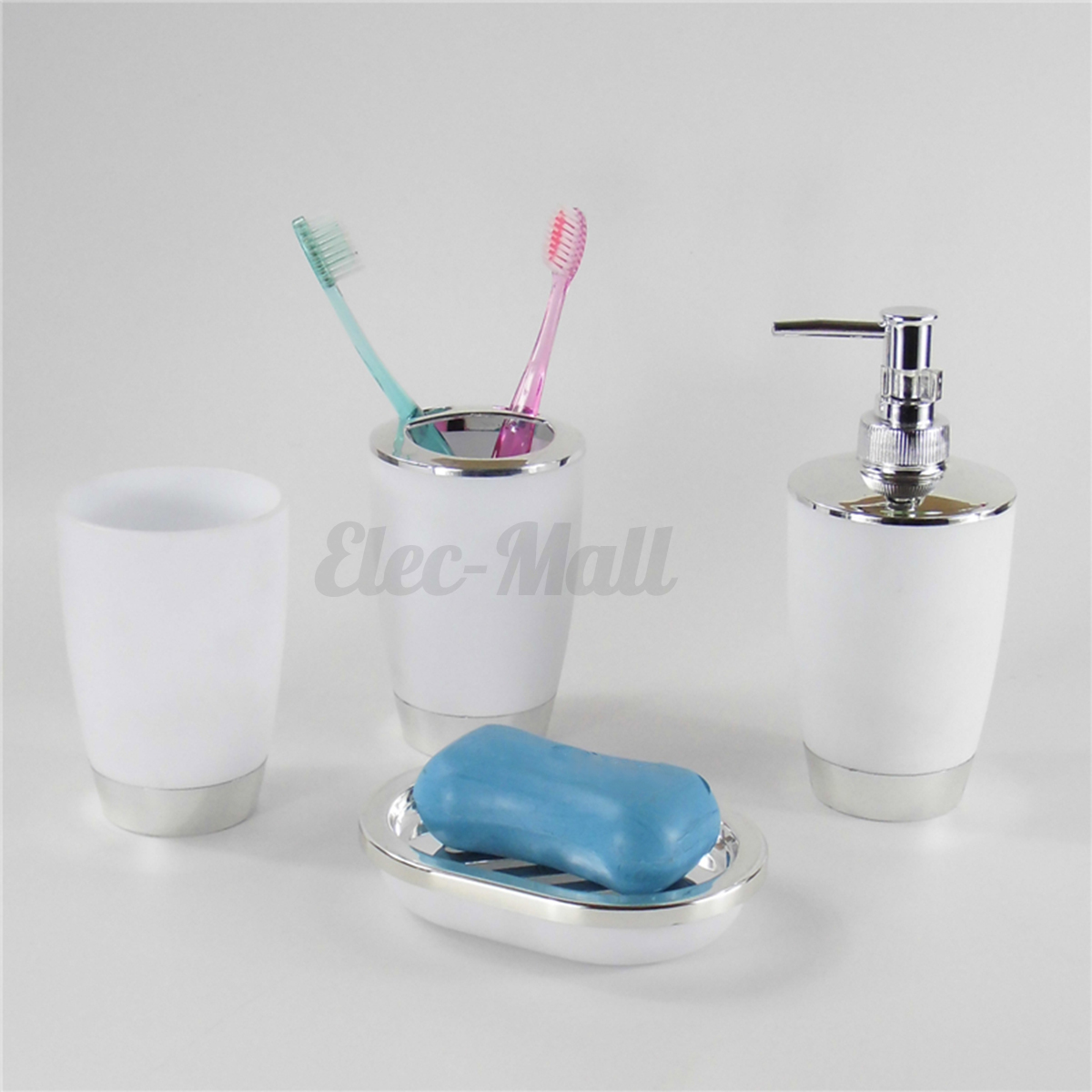 4pcs set plastic bathroom suit bath accessories cup