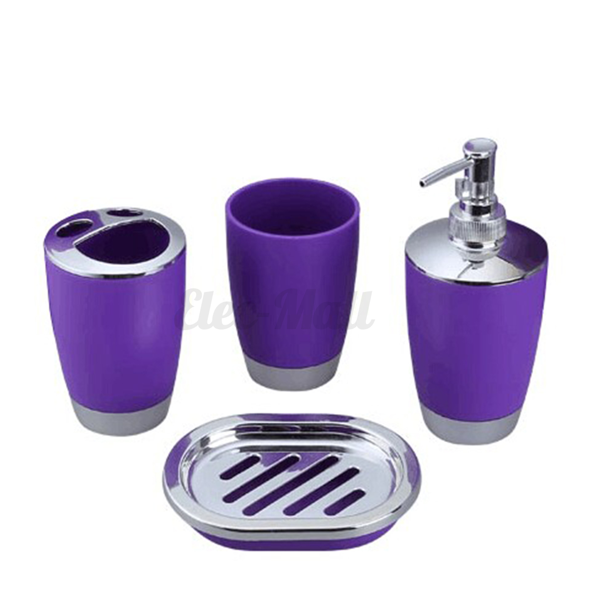 4pcs set plastic bathroom suit bath accessories cup for C bhogilal bathroom accessories