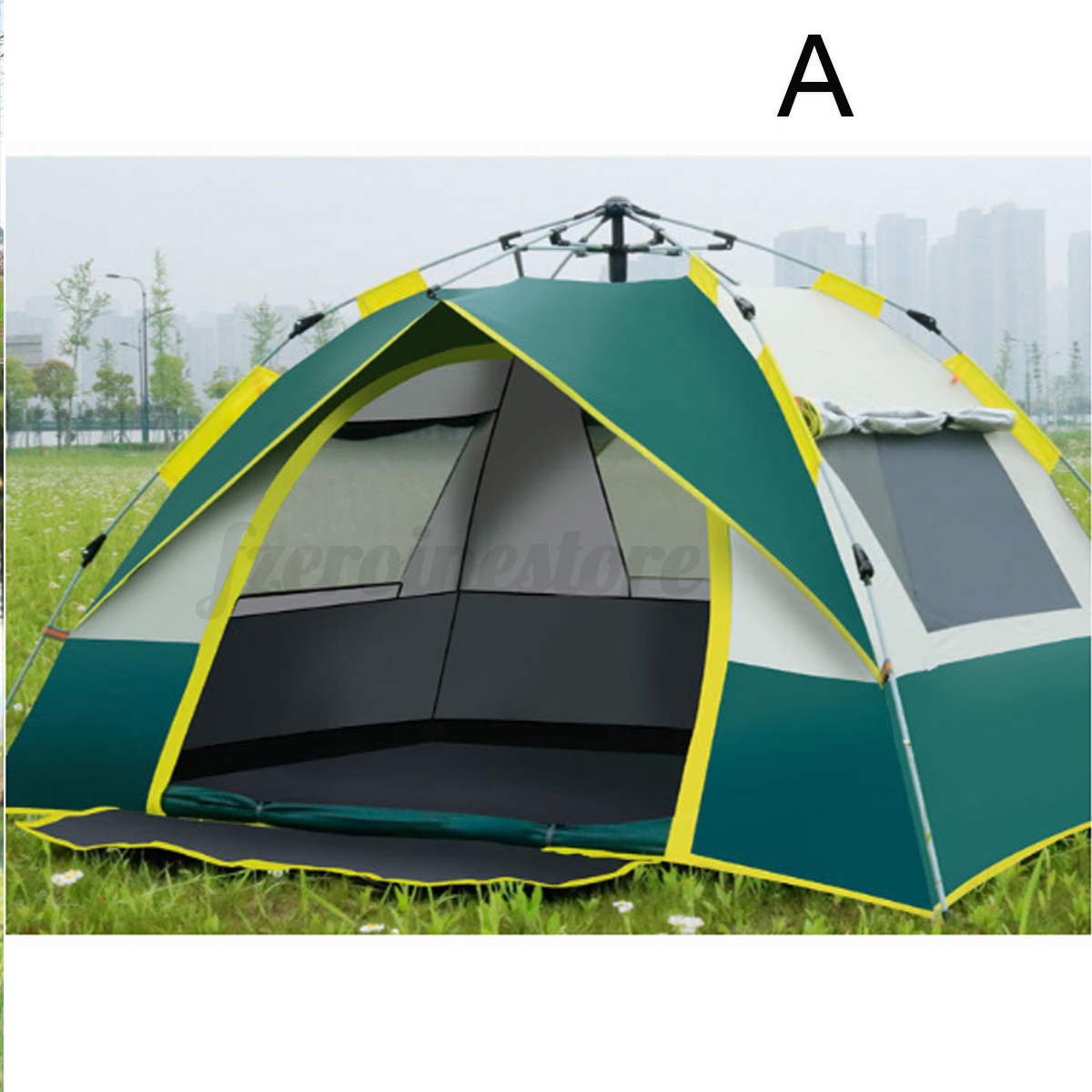 Automatic-3-4-Man-Person-Family-Tent-Camping-Anti-UV-Waterproof-Shelter-Hiking thumbnail 3