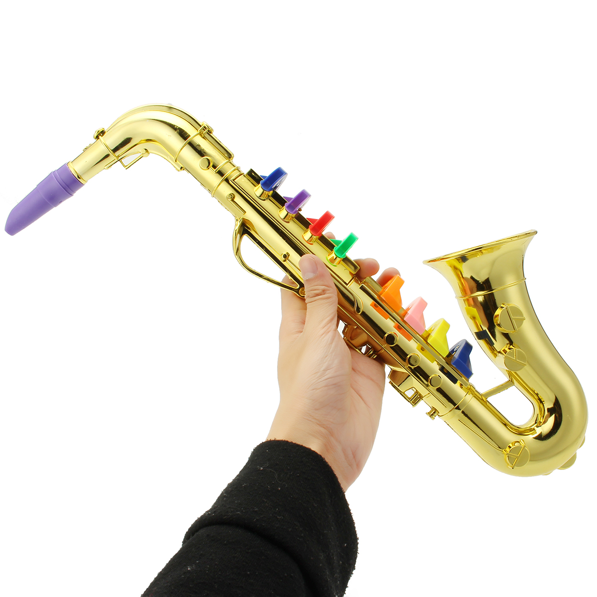 Musical Toy Trumpet : Mini golden silver clarinet trumpet saxophone musical