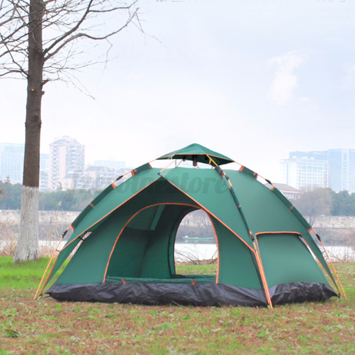 Automatic-3-4-Man-Person-Family-Tent-Camping-Anti-UV-Waterproof-Shelter-Hiking thumbnail 11