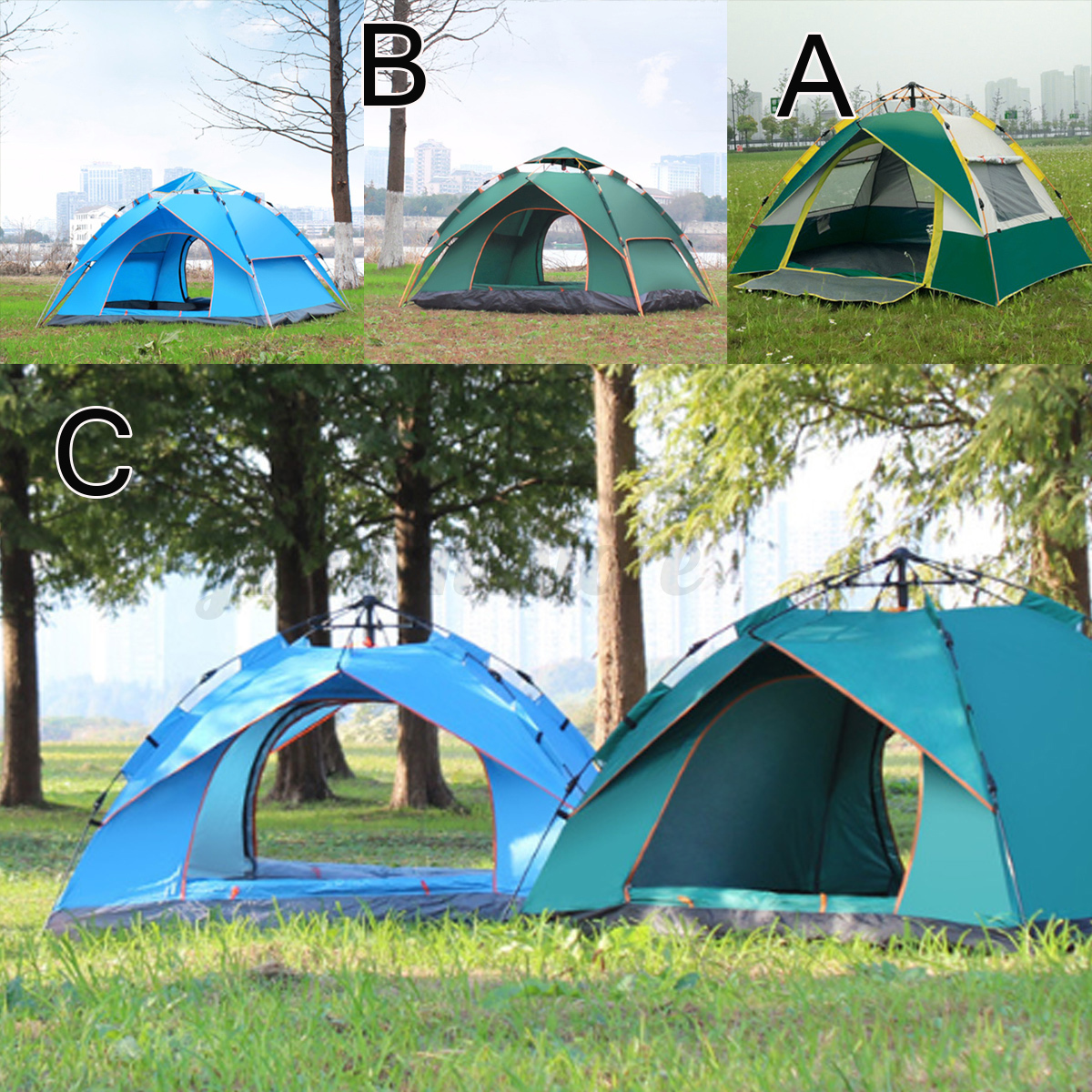 Automatic-3-4-Man-Person-Family-Tent-Camping-Anti-UV-Waterproof-Shelter-Hiking thumbnail 2