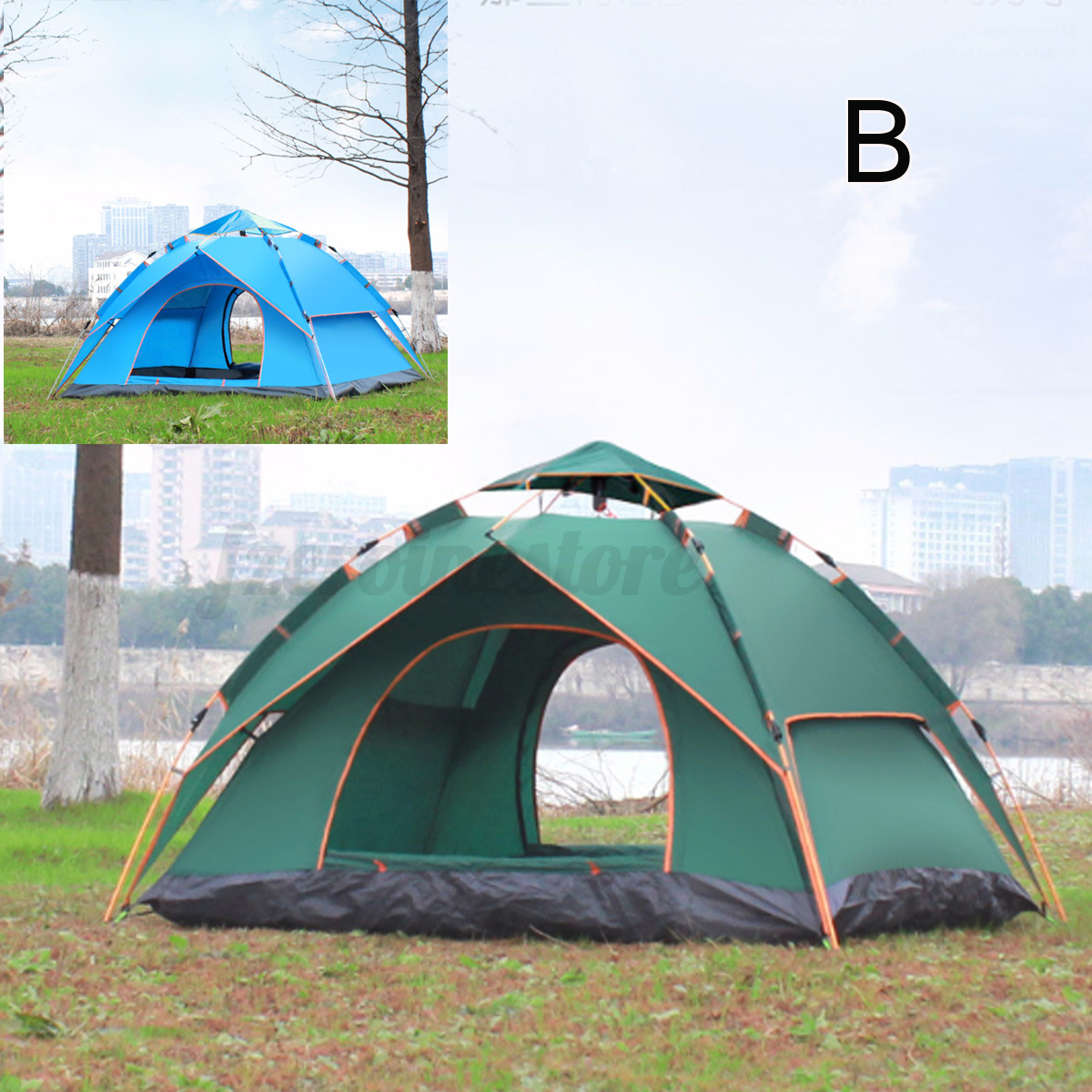 Automatic-3-4-Man-Person-Family-Tent-Camping-Anti-UV-Waterproof-Shelter-Hiking thumbnail 4